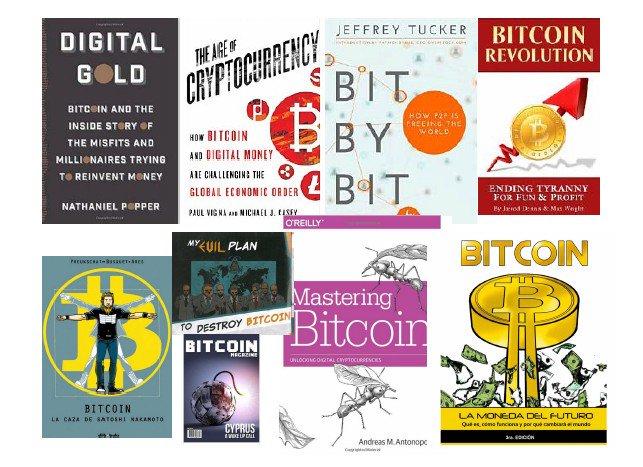 Bitcoin books @aantonop @elbitcoin @jeffreyatucker @paulvigna @alexpreukschat @nathanielpopper https://t.co/QnfbEAizRd