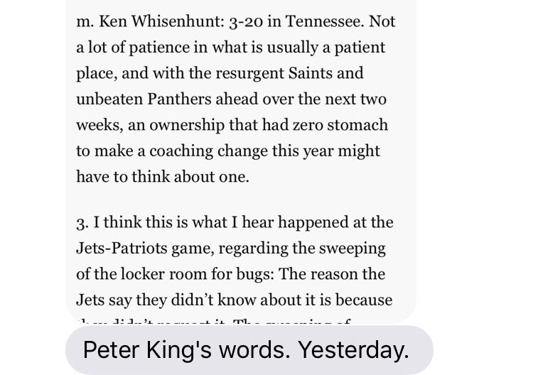 .@SI_PeterKing seems to be talking out of both sides of his mouth. https://t.co/FGF9AeywkW