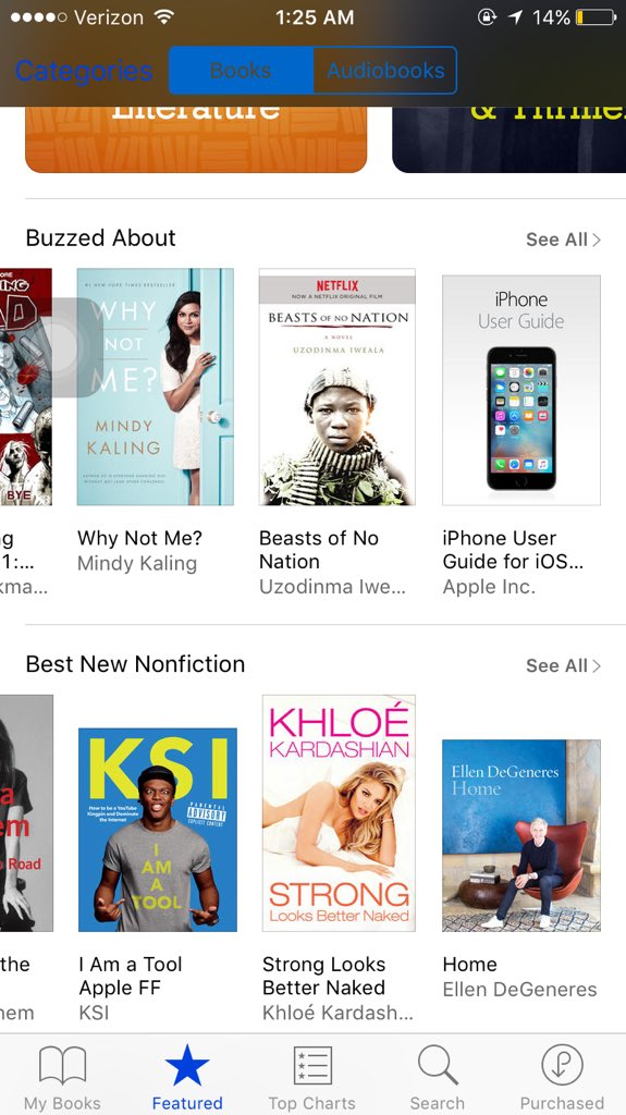 RT @kimkeveryday: #StrongLooksBetterNaked is under best new nonfiction on ibooks ???? @khloekardashian https://t.co/oADkLqdnJv