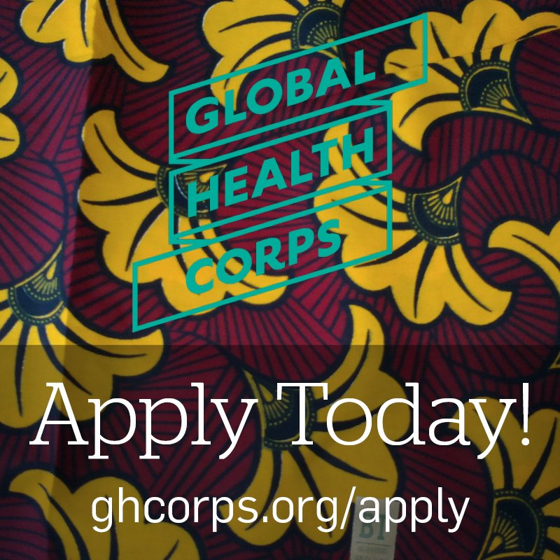 Applications are OPEN! Apply to be a 2016-2017 Global Health Corps fellow! #changemakers https://t.co/u6DcdupXzb https://t.co/LaOA7mtEY6