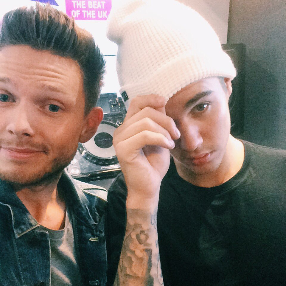 Total pleasure hanging with @justinbieber today. Hear our chat on @KissFMUK breakfast Monday morning