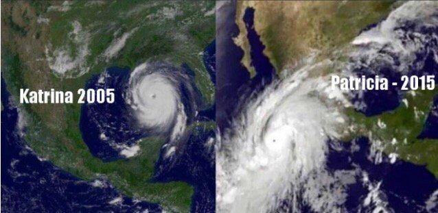 Así fue #Katrina así es #HuracánPatricia  Vía @JoseCardenas1 https://t.co/X1ecaPXbdy