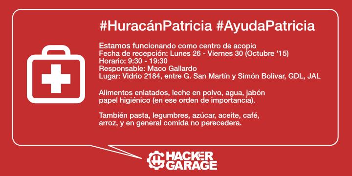 Somos centro de acopio para #HuracanPatricia, por favor ayúdenos a difundir y traer bienes #AyudaPatricia #Patricia https://t.co/1YFoseROhe