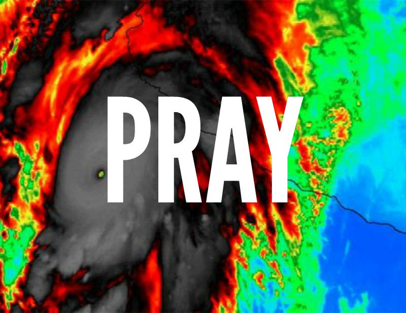 #HurricanePatricia is expected to make landfall in #Mexico today. Take a min to pray for everyone in its path. https://t.co/dLHiVFeaFh