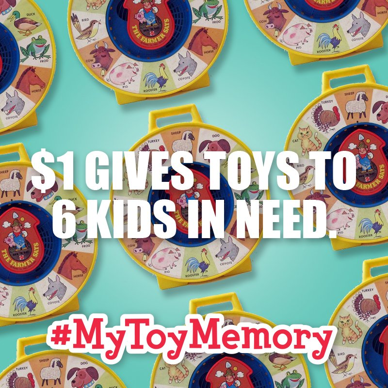 Have you told your #MyToyMemory story? A little tweet goes a long way for kids in need: https://t.co/DJTtH8LPNI https://t.co/RmoqB5Ekcw