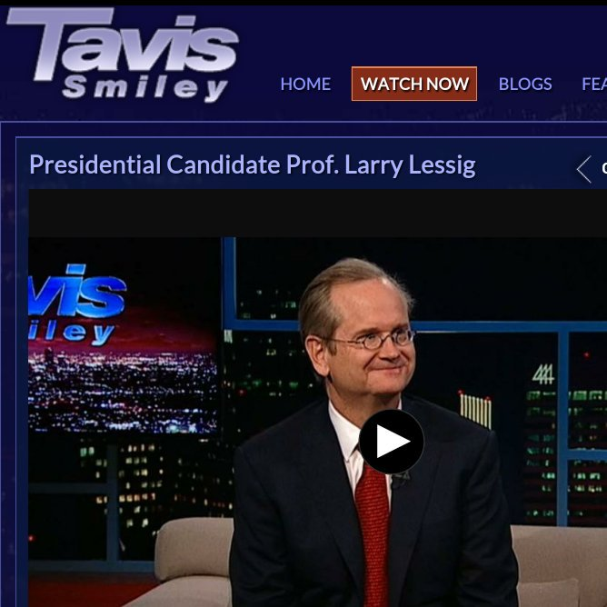 Awesome to see @lessig on @tavissmiley talking campaign finance reform https://t.co/5Vi8dAEmeO https://t.co/tuqDhQxYqK