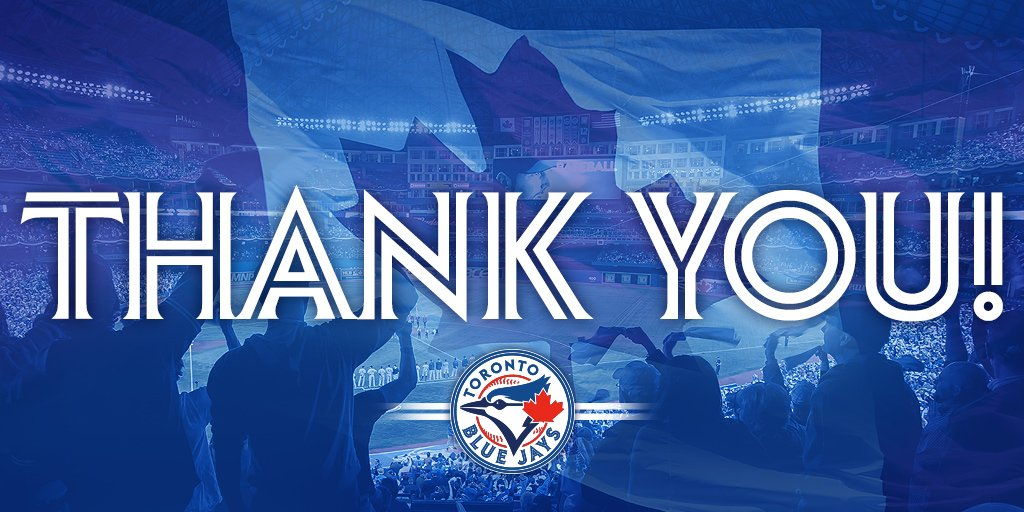 What a wonderful season it was! To all of the @BlueJays fans, thank you for your support! #ComeTogether https://t.co/gDW2W0UFaJ
