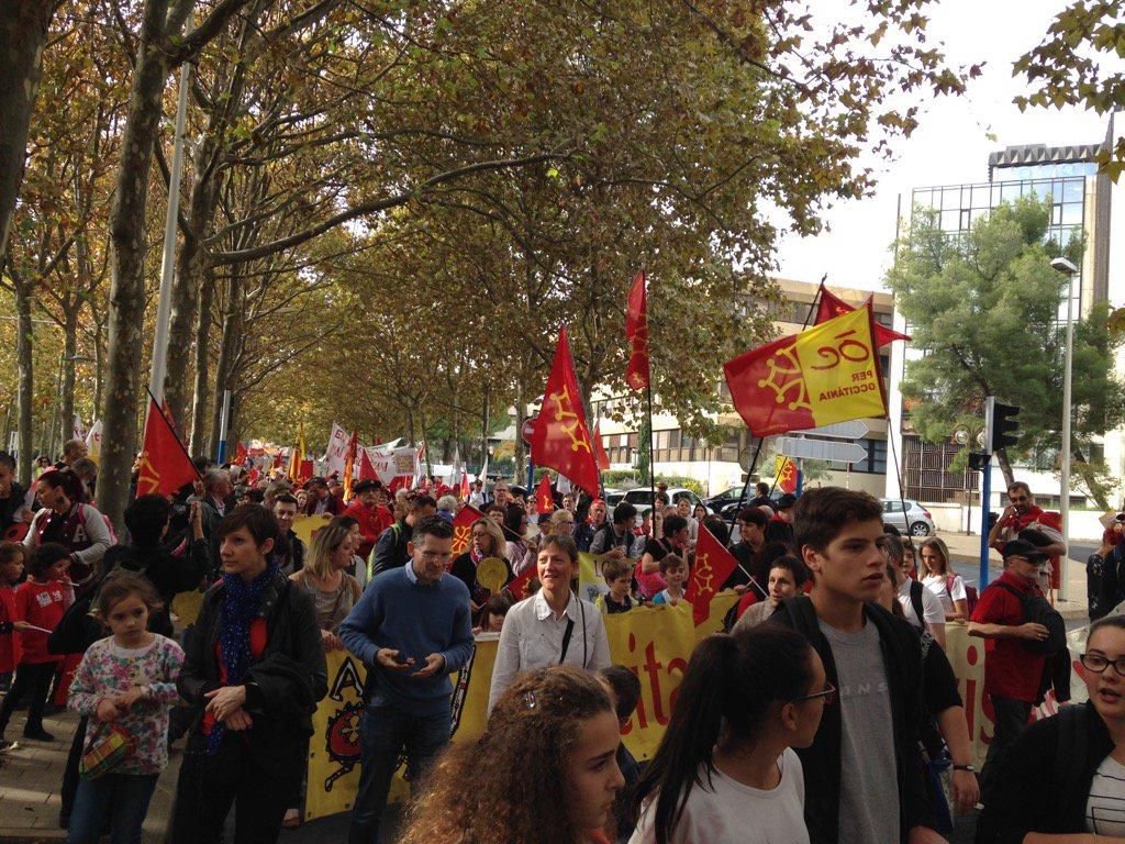 Milers de persones reivindiquen l'occità a Montpeller https://t.co/x70o0nBpMS