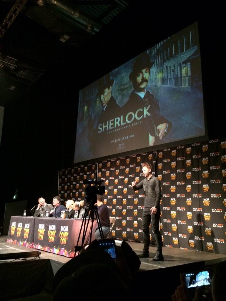 The big #Sherlock news is that it will air on Jan 1 2016 in UK and US and its called The Abominable Bride #mcmLDN15 https://t.co/ZInykPz7YS