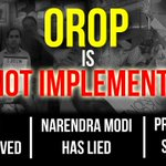 #OROP is NOT implemented. Don't get fooled. @PMOIndia @YouthWithAAP https://t.co/iFHVJSQneH