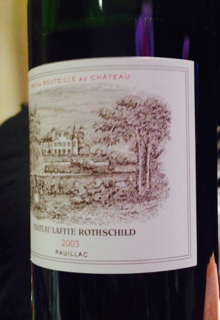 2003 Lafite Rothschild is as dashing as Baron Eric himself at @WineSpectator #NYWE2015 https://t.co/ODJbhIKGOp