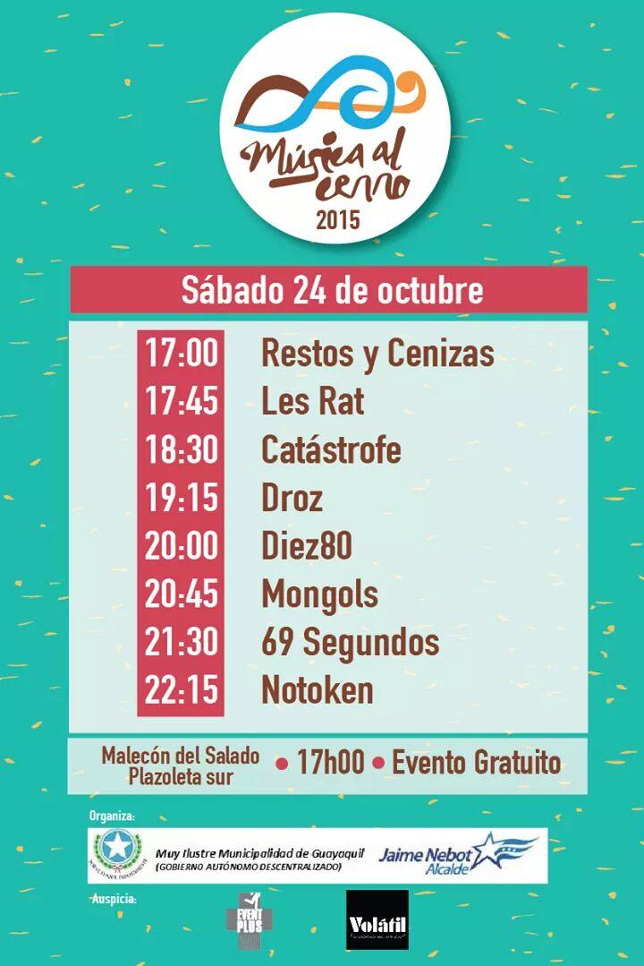 Hoy GRATIS en @MusicaalCerro estaremos junto a grandes bandas https://t.co/lIDUCXpG5F