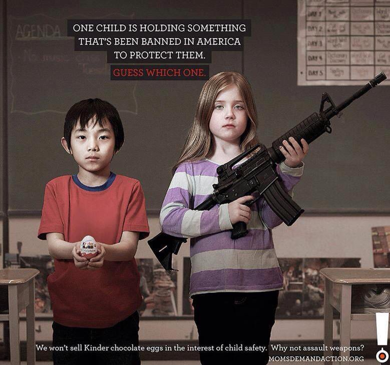 One child is holding something that's been banned in America to protect them. Guess which one. #RT #makechange https://t.co/aNeXfBg0wT