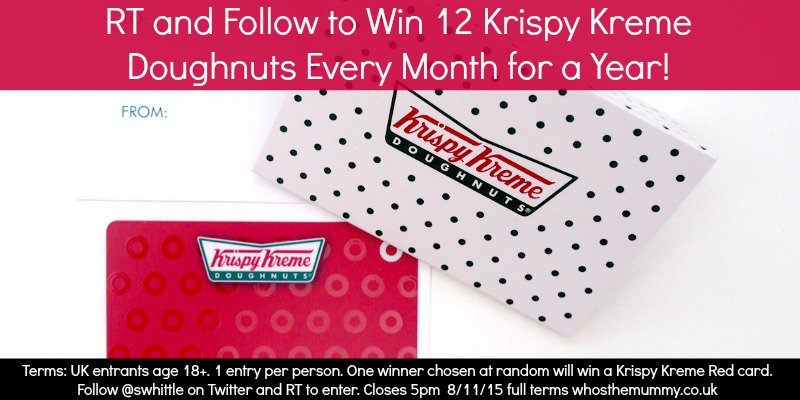 #Win a Krispy Kreme Red Card & free doughnuts for a whole year! RT and Follow to enter https://t.co/tMMLH0aiHF https://t.co/mk7KYkwDIk
