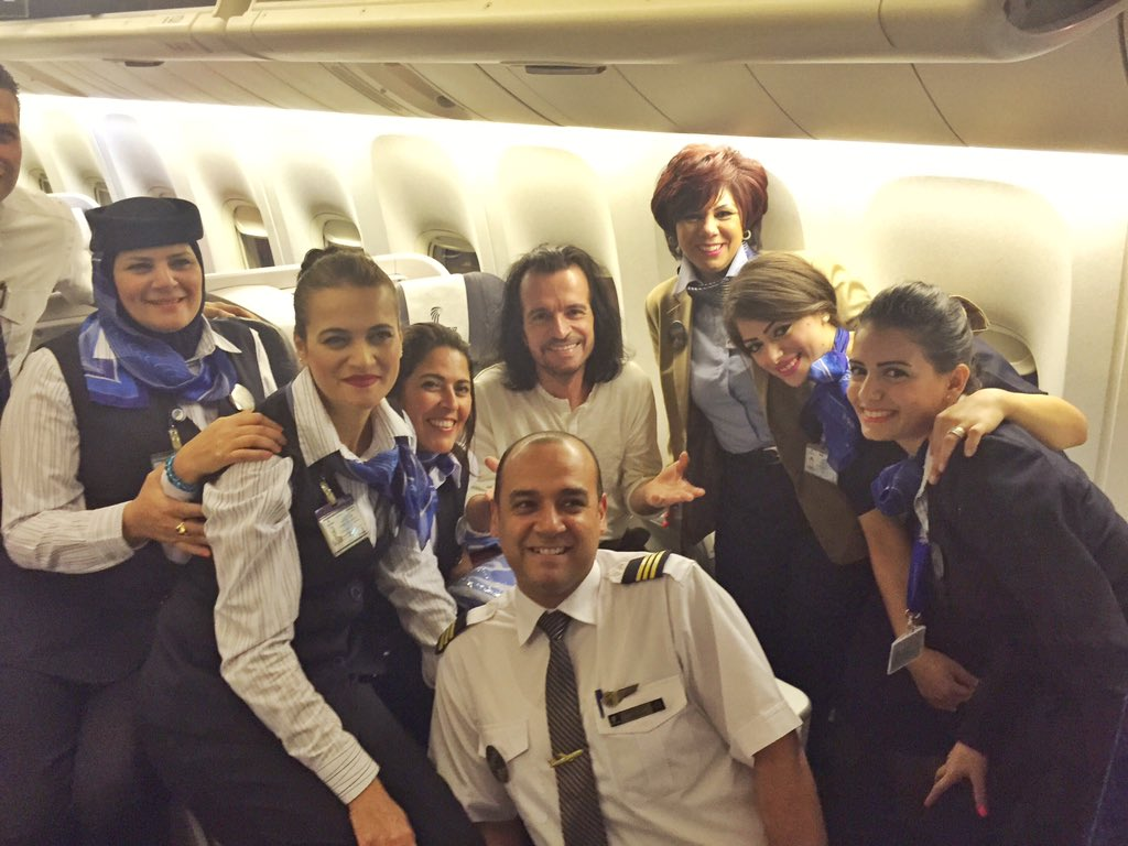 With the flight crew, getting ready to depart #JFK. Next stop, #Cairo! https://t.co/qf6zyRmqTk