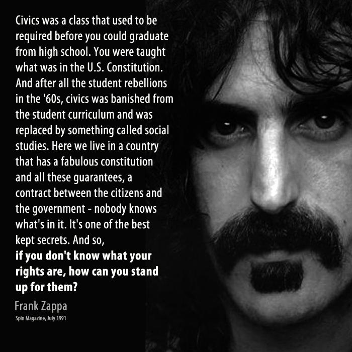 I always liked Zappa. Words of wisdom. https://t.co/MoDBAjmT9s