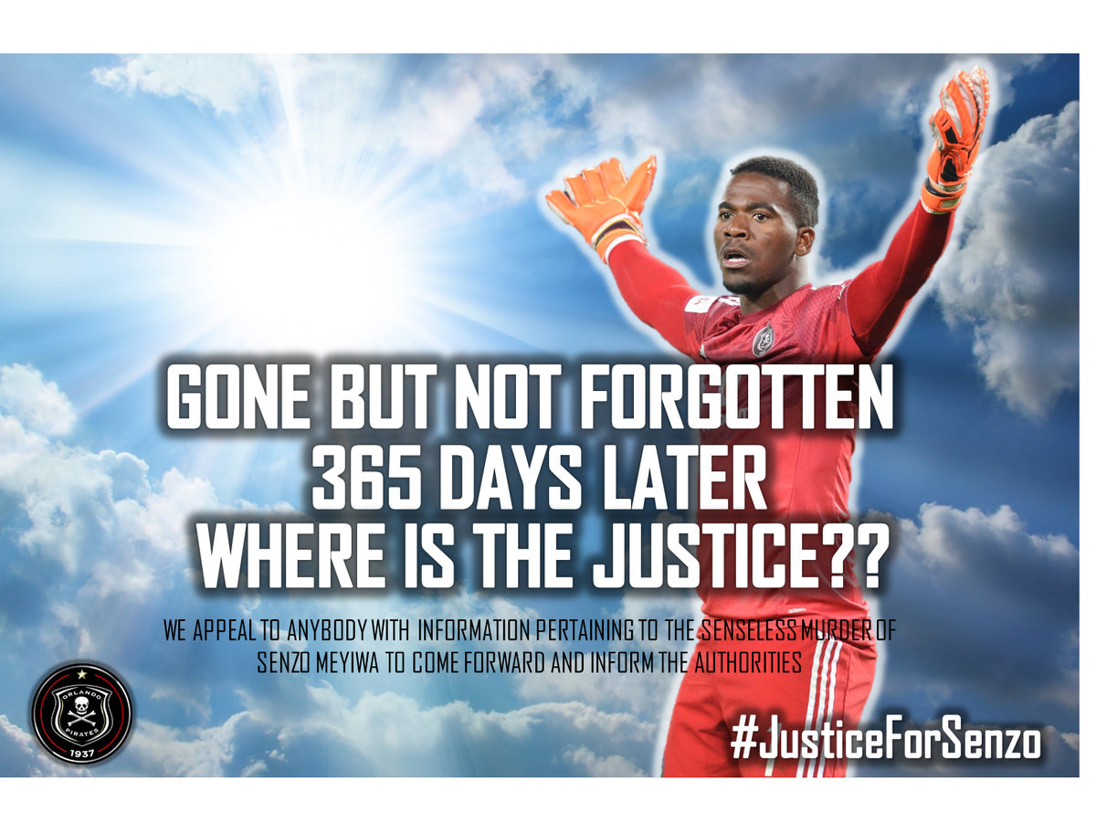 365 days later and still no word on who shot and killed Senzo Meyiwa. Gone but not forgotten #JusticeForSenzo https://t.co/SvNjhQUhjK