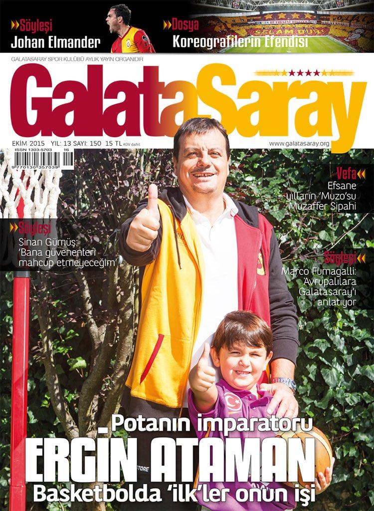 Galatasaray Dergisi'nin 150'nci sayısının kapağında Potanın İmparatoru @erginataman var. https://t.co/uYWBfA5NuU https://t.co/gxOM2CPsfM