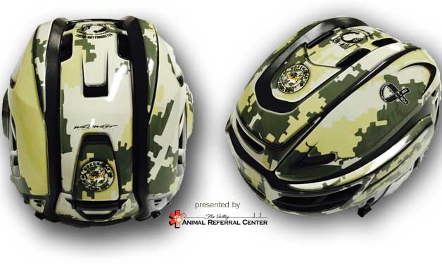 We are proud to unveil the design for the helmets that will be worn Nov 14. Proceeds to benefit DAV #militarynight https://t.co/B995XOHNC1