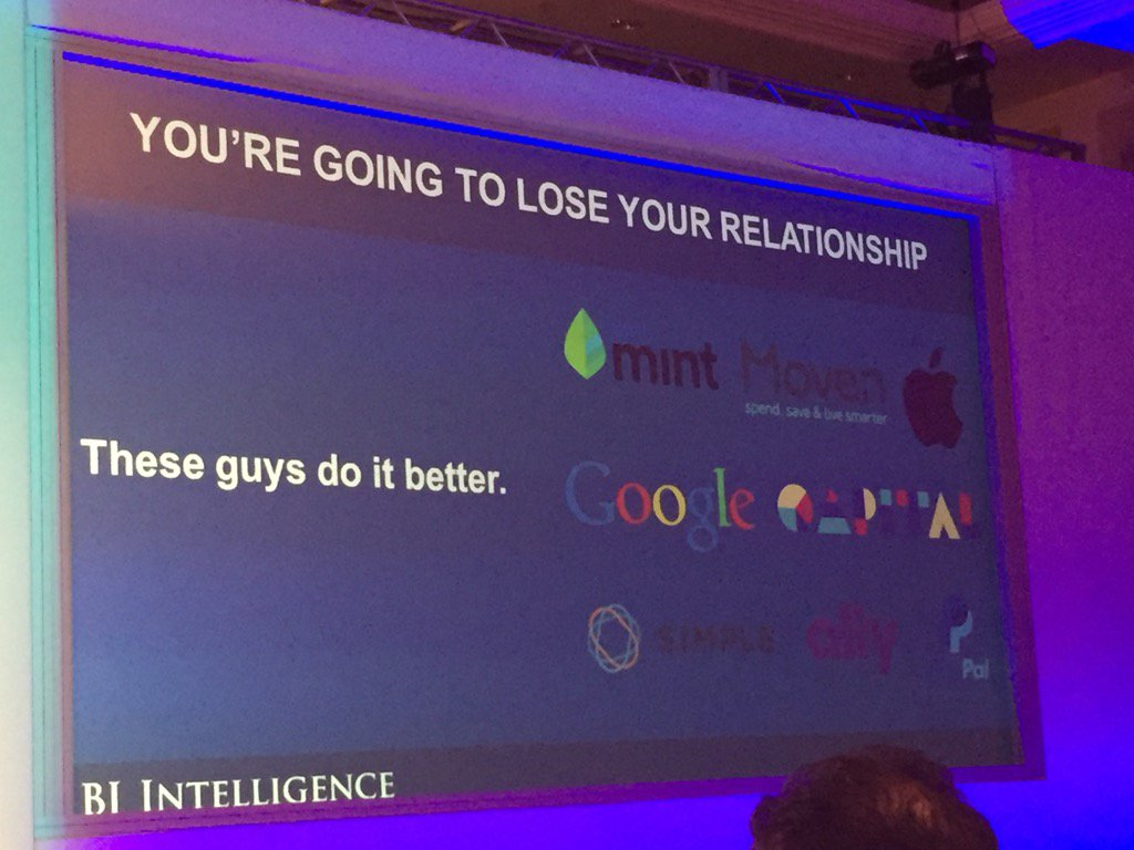 Banks are going to lose their customer relationship because @getMoven and others do it better @brettking #money2020 https://t.co/XjrMHm0oPl