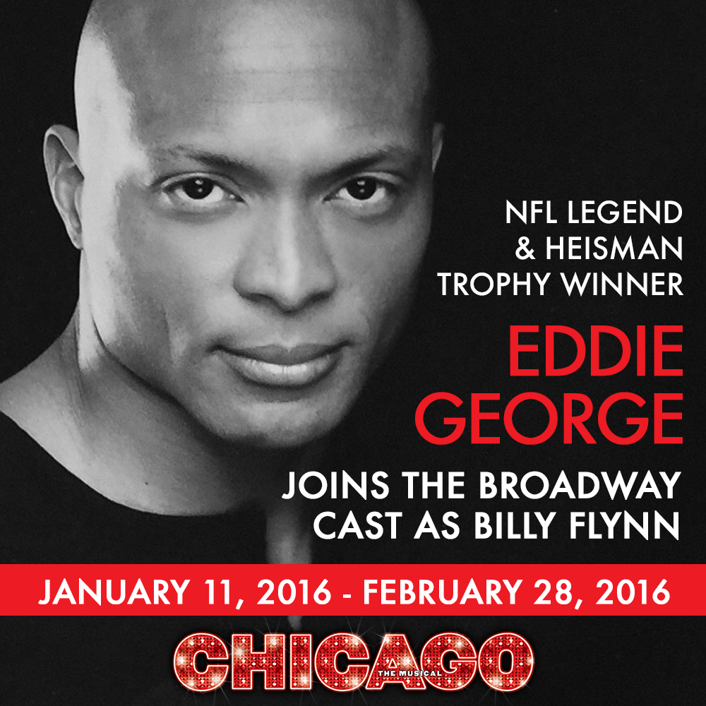 Former @Titans player @EddieGeorge2727 to make #Broadway debut with @ChicagoMusical Jan. 2016. #EddieAsBilly https://t.co/2dNV4SbzDV