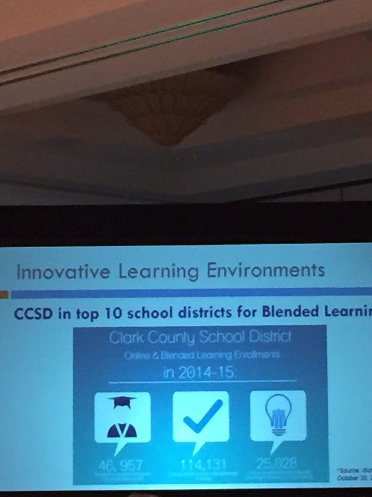 @ClarkCountySch is in top 10 school districts for Blended Learning. @PatatCCSD #k12matters https://t.co/XPo6CguFh1
