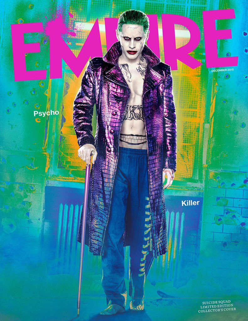Say hello to the bad guy. It's @JaredLeto's Joker; our new Suicide Squad issue cover star. https://t.co/3HuKXLGDRD