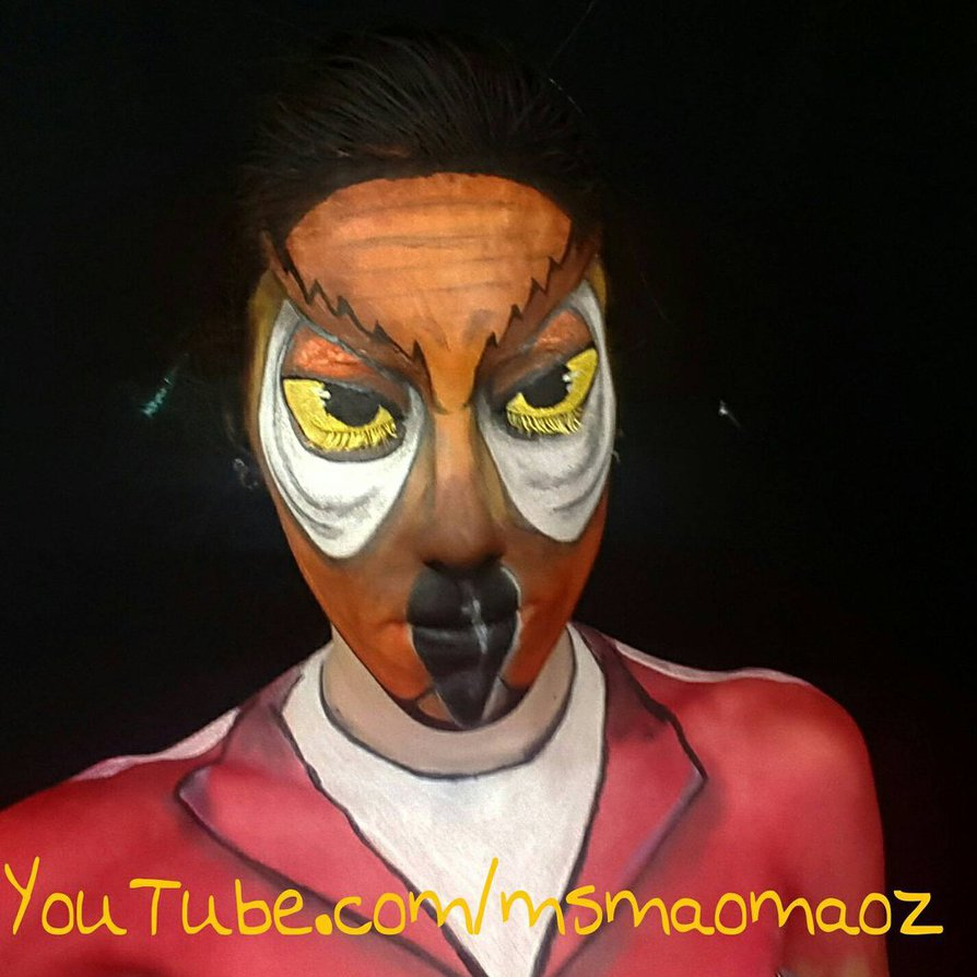 in time for halloween makeup artist maomaozz shows how to turn into owl mask