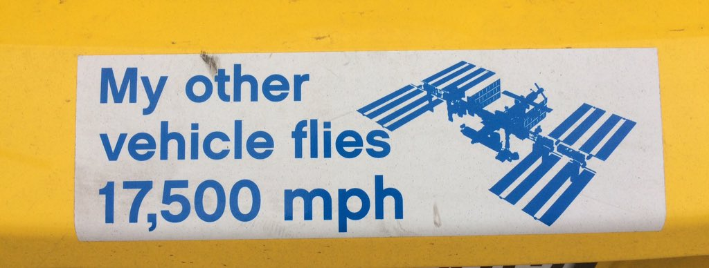 On a car bumper in a NASA parking lot ;) https://t.co/vtQvb21xBY