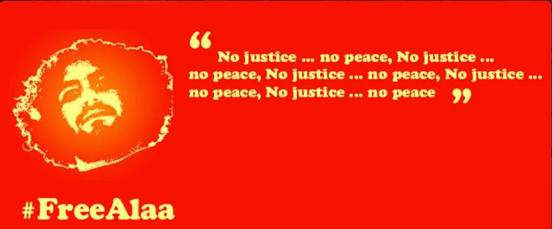 #FreeAlaa No justice ... No peace https://t.co/2Ki0a4msBq