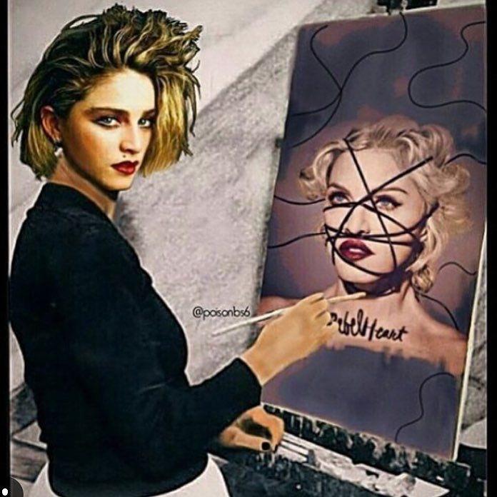 Art Imitates Life.........❤️ #rebelhearttour https://t.co/FKKXjJYnAK