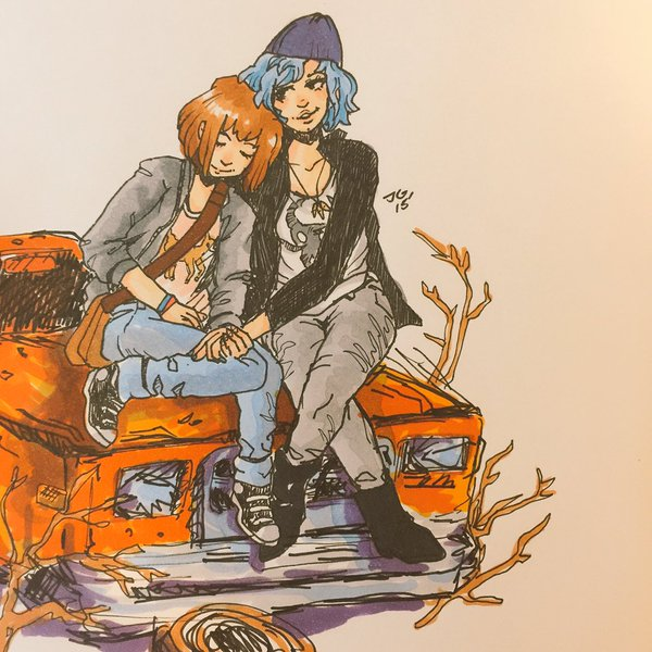 Finished #LifeIsStrange the other day! Such an experience! @LifeIsStrange @DONTNOD_Ent @DONTNOD_Michel #inktober https://t.co/EfuoY5RbCv