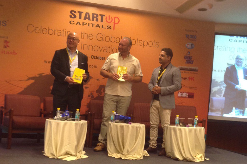 Release of book Startup Capitals by Zafar Iqbal at the event in Delhi #startupcapitals https://t.co/UQoa6CqV5R