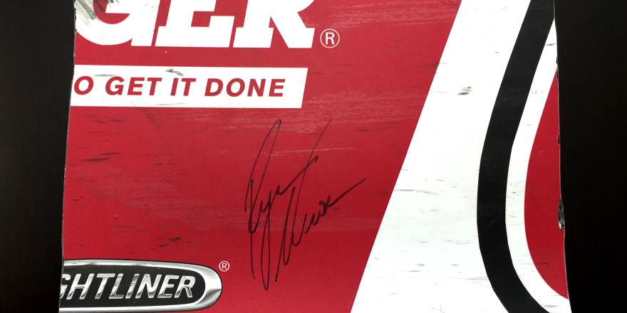 RETWEET to win this signed piece of @RCR31RNewman sheet metal.   1 winner will be picked tonight at 10:00 p.m. https://t.co/GbkYzKhOPO