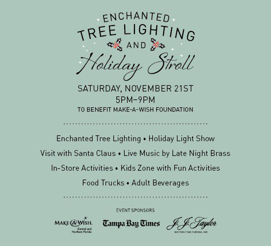 Save the Date! Our annual Enchanted #TreeLightingCeremony is November 21st! https://t.co/2fkaxLed8Y