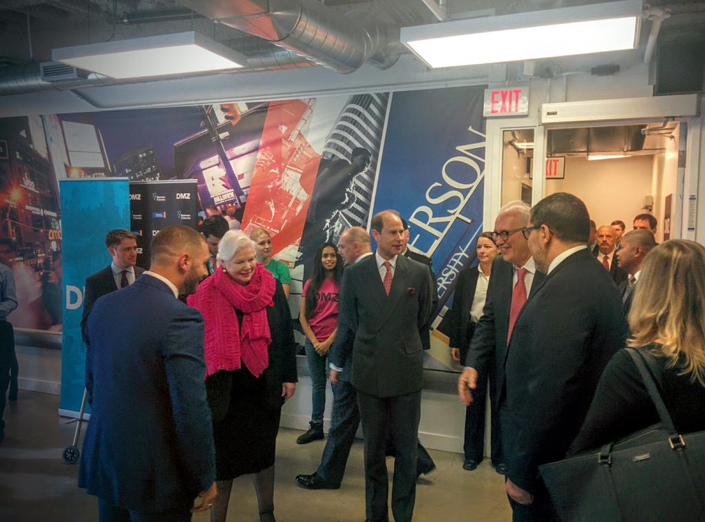 Showcasing #cdntech innovation from 3 amazing #startups to His Royal Highness & @LGLizDowdeswell #StartupRoyalty https://t.co/Az4EMbT3vb