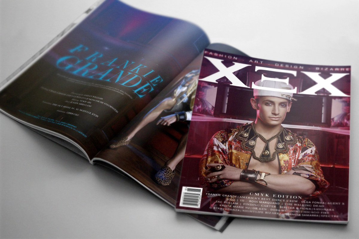 XEX #CMYK Edition w/ @FrankieJGrande is now available for Digital & Print! #frankiegrande https://t.co/nHI7ZEjrzO https://t.co/3NoDRB0d8F