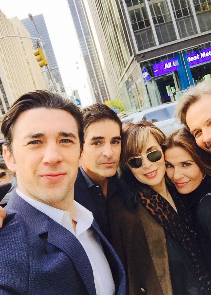 #days50 @DaysofourLives on the corner with @KJAlfonso @galengering @officialnichols @billymflynn