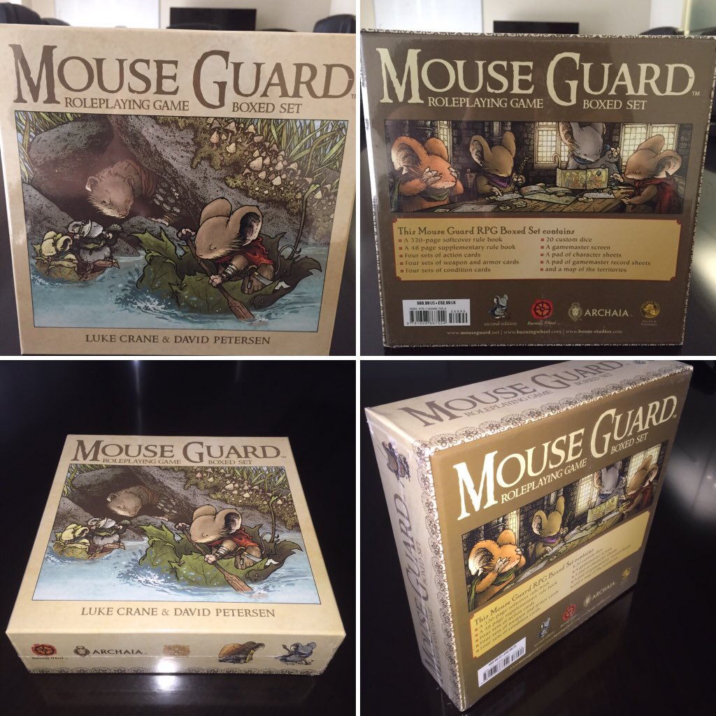 The MOUSE GUARD ROLEPLAYING GAME BOXED SET SECOND EDITION is on sale in select shops on 10/28! https://t.co/fIJd8jXh3a