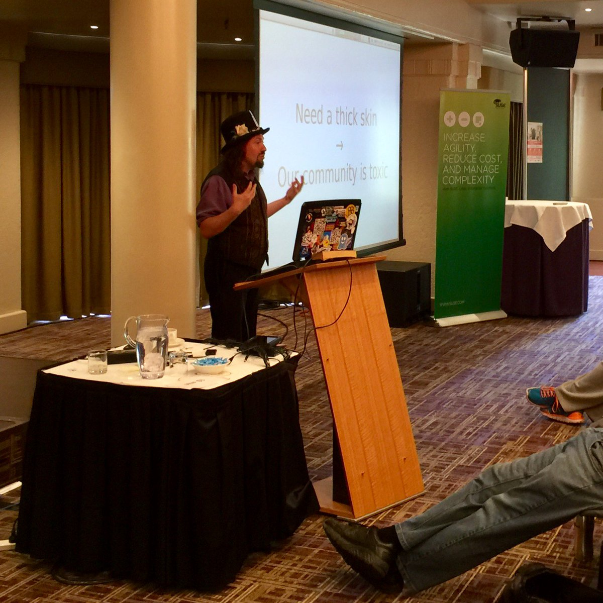 """When you say 'you need a thick skin' I hear 'our community is toxic.'"" – @pjf #osdc15 https://t.co/eV1QqWDFRq"