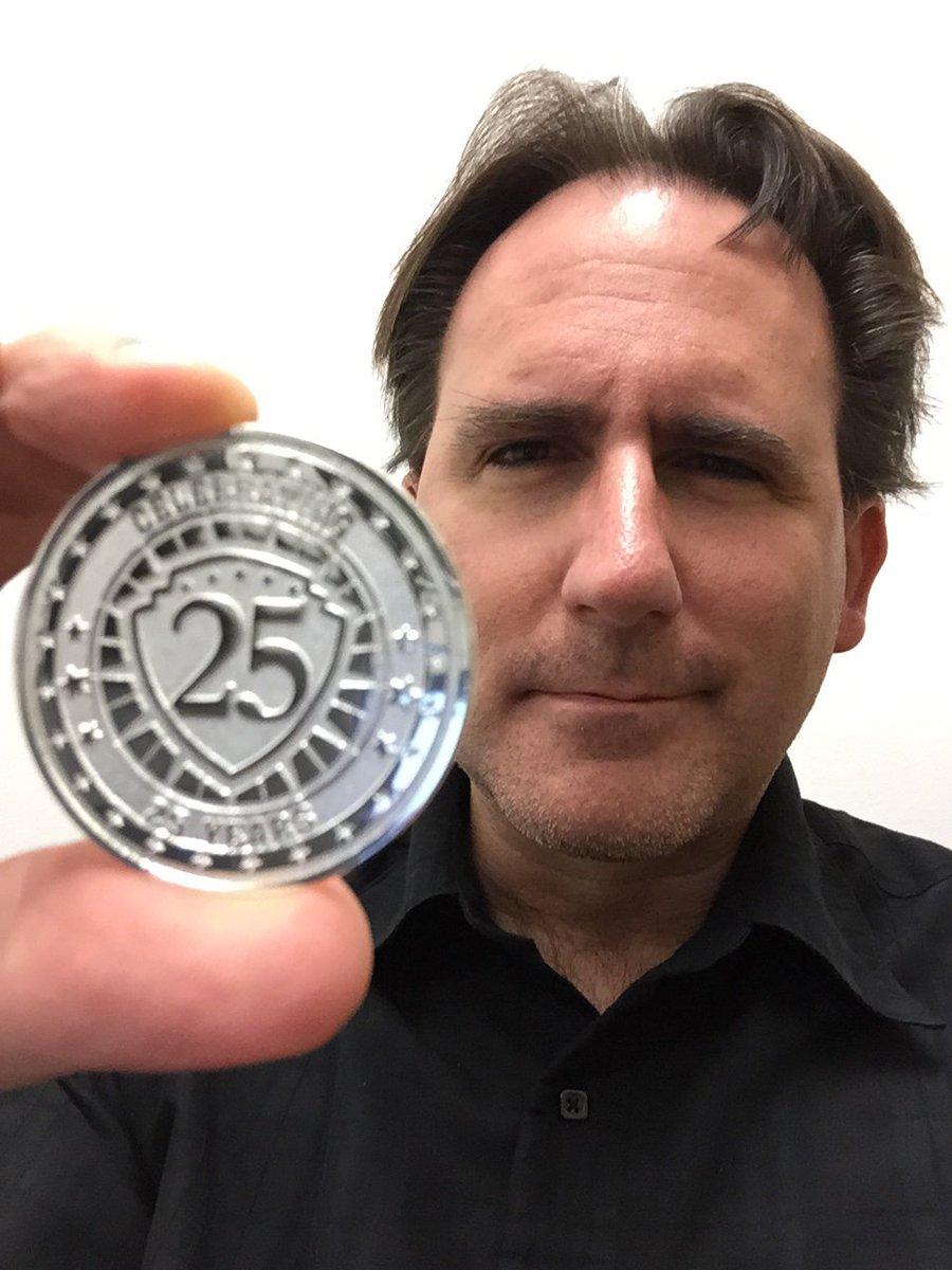 If you work at the same video game company for 25 years, you get one of these... https://t.co/MClCbBJkEO