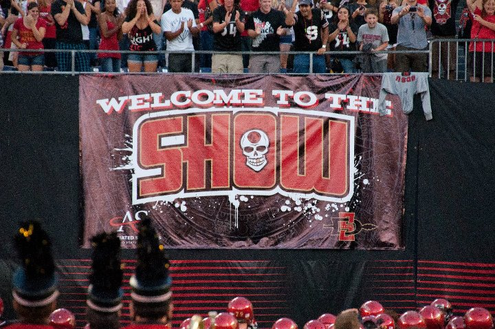 "SDSU's ""The Show"" was named the top college basketball section in the country via The Bleacher Report! #WhySDSU https://t.co/9U4nBjJ4gH"