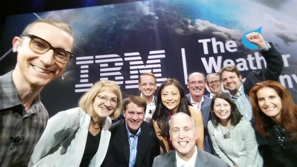 #selfie during the incredible announcement @IBM acquires @weathercompany. W data, we can see our planet w new eyes. https://t.co/cpsEIJS23K