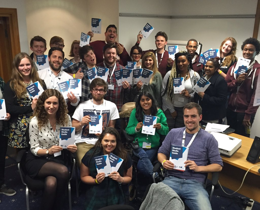 Very happy to send mine and @rosiehunnam's #NUSzones15 crew back to SUs with our Student Media Guide! https://t.co/cDHcrUgxmd