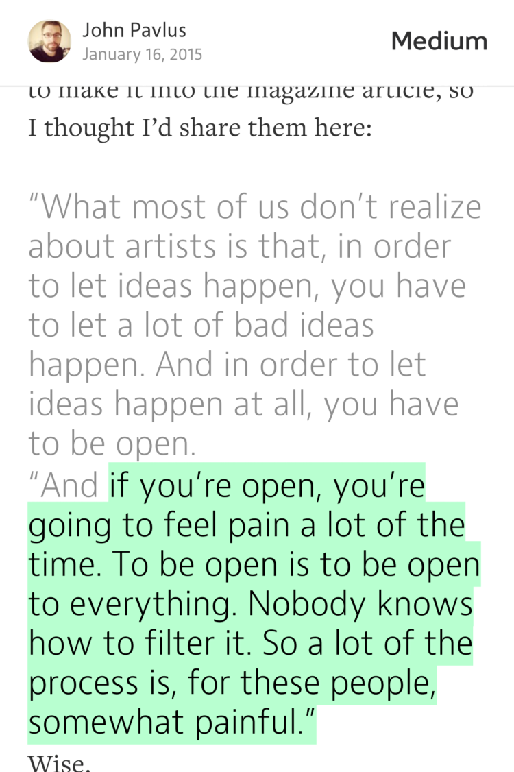 """If you're open, you're going to feel pain a lot of the time."" — Alan Kay https://t.co/9JGNFraLnq https://t.co/B3JBaQ5rMH"