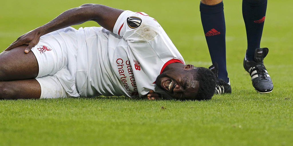 People getting hurt in football