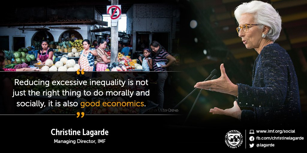 Reducing excessive inequality is not just the right thing to do morally and socially, it is also good economics. https://t.co/bdeAxnBVmB