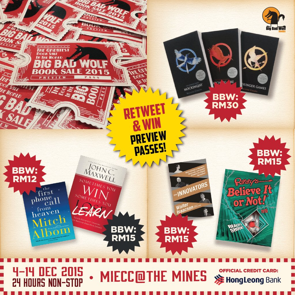 RETWEET and stand a chance to be one of the 20 random lucky fans to win a Preview Pass to #BBWKL2015! >) https://t.co/ZW5OxyzB4R