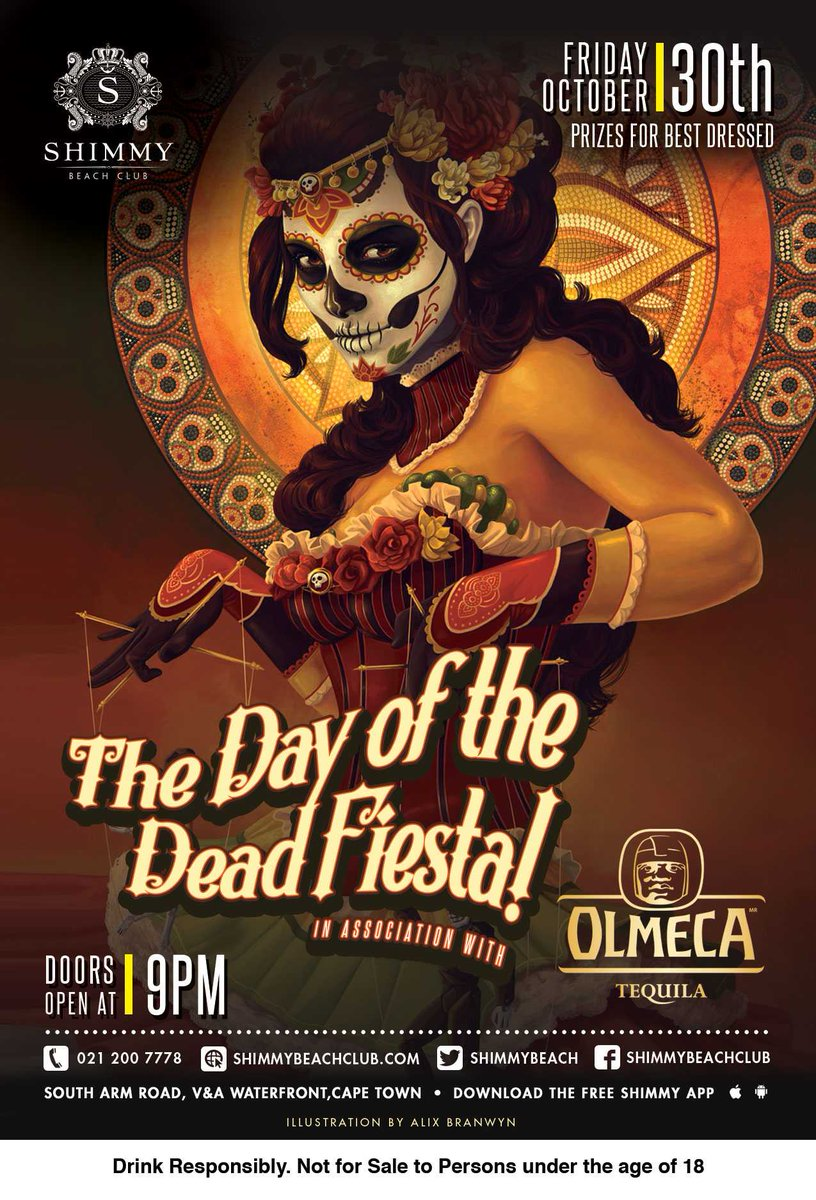 I've got 3 double tickets to give away ~ #DayoftheDeadFestival @shimmybeach ...#RT & stand a chance to win ;) https://t.co/Sqoulelm0n