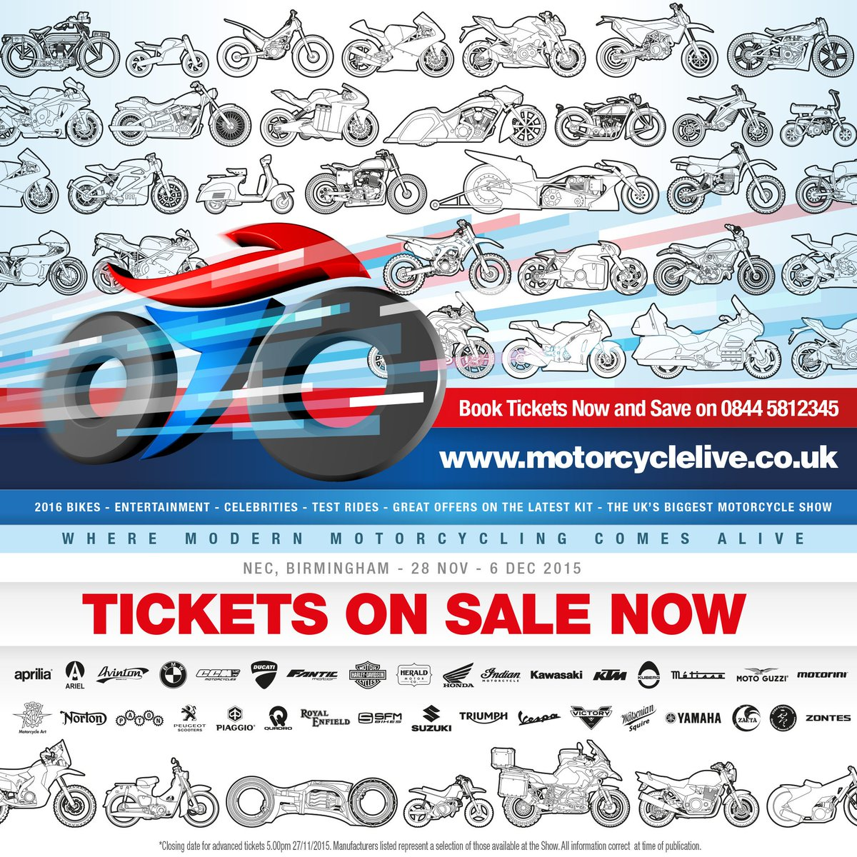 #MotorcycleLive comes alive: NEC, Birmingham 28Nov-6Dec! 2 pairs of tickets to give away-RT to enter @motorcyclelive https://t.co/oXc9X4n1TW